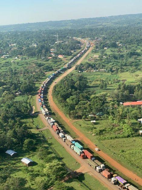 An image of Malaba Traffic Jam