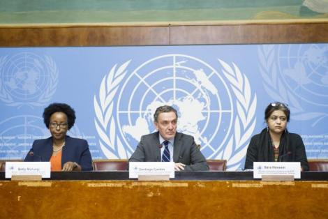 Betty Murungi (left) at a past United Nations summit