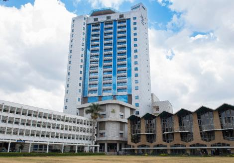 Stock image of University of Nairobi Towers.