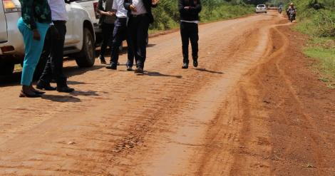 A road launched by Deputy President William Ruto in November 2018