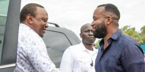 President Uhuru Kenyatta (left) with Mombasa Governor Hassan Joho during the launch of the Kenya Coast Guard Service in Mombasa County, on November 19, 2018.