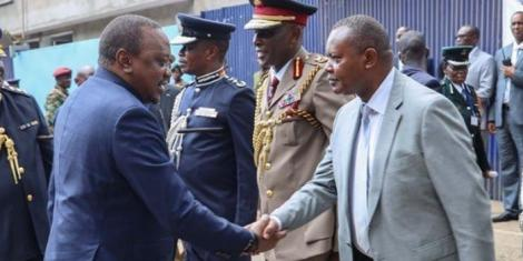 President Uhuru Kenyatta with Director of Criminal Investigations George Kinoti