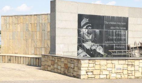 A historical monument at Uhuru Gardens.