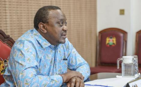 President Uhuru Kenyatta speaking on Thursday April 8 at State House, Nairobi, when he delivered the opening address at a virtual OACPS town hall.