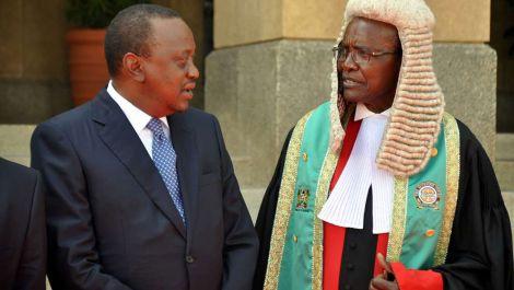President Uhuru Kenyatta and Chief Justice David Maraga