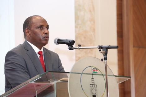 Treasury CS Ukur Yattani speaking at Ole Sereni on Wednesday, August 26, 2020