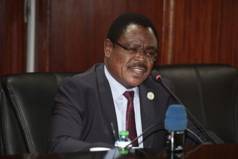 File image of University Education and Research Principal Secretary Ambassador Simon Nabukwesi