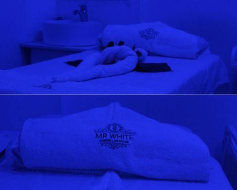 A massage room at Miss White Spa located at Kilimani Wood Avenue, Nairobi.