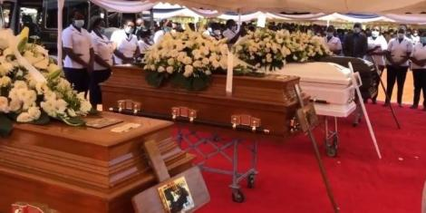 Emotional send-off of Kiambu family who were murdered on January 5, 2021.