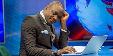 News anchor Ken Mijungu at NTV studios