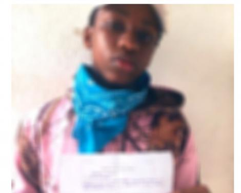 A blurred photo of Rodney Njoroge with the police statement detailing the particulars of his arrest on May 15, 2020.