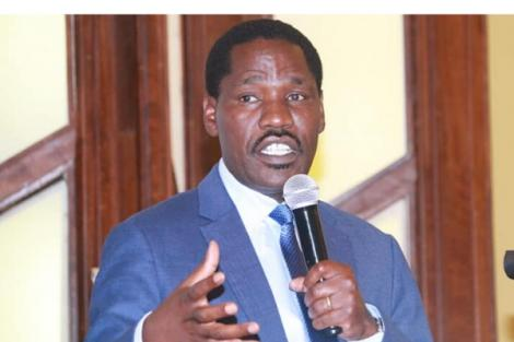 Agriculture CS Peter Munya speaks at the National Agriculture Summit at Safari Park Hotel on Wednesday, February 26, 2020