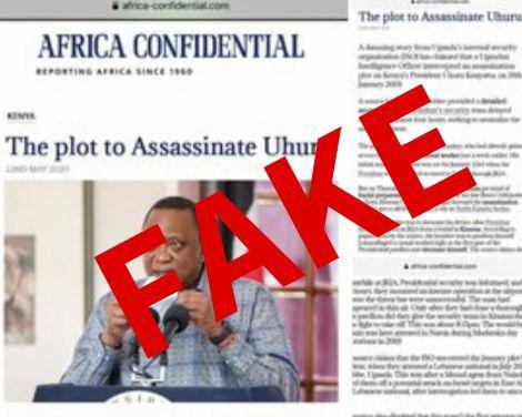 A screenshot of the false article
