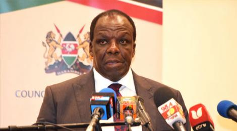 Kakamega Governor Wycliffe Oparanya speaks after the Board of Governors meeting on