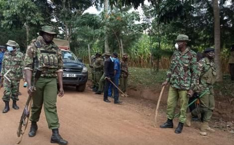 Police surround Senator Wetangula's home in anticipation of protests by his supporters.