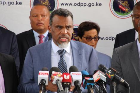 Director of Public Prosecutions Noordin Haji addresses the media on Thursday, March 5, 2020.