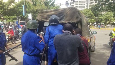 Police deployed in Nairobi during protests in Nairobi on Saturday, May 1