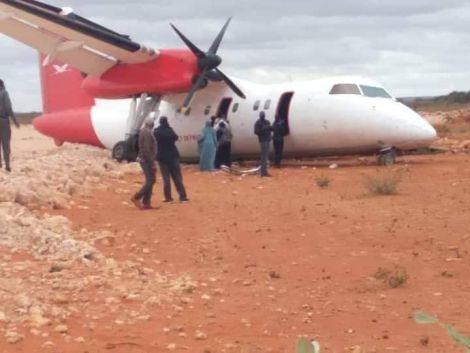 Passenger plane crash-landed at Burahache Airstrip on Wednesday, July 21 2021