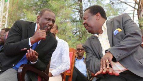 An image of Mudavadi and Ruto