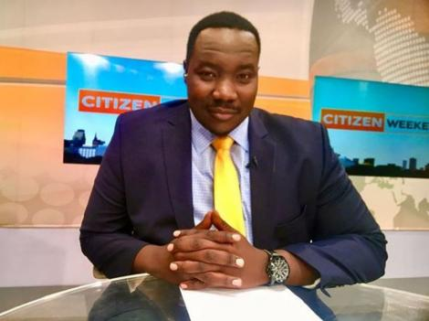 Citizen TV anchor Willis Raburu pictured during a past news bulletin