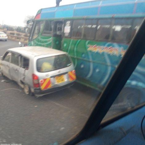 An accident at Githurai, Outbound Nairobi on Thursday, September 3