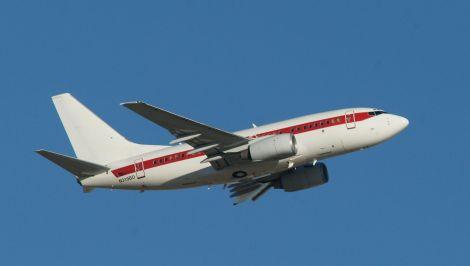 An aeroplane mid-air
