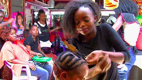 A salon situated in Kariobangi market, Nairobi