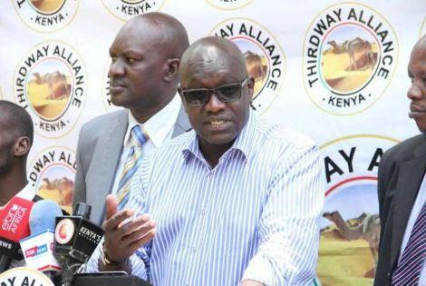 Thirdway Alliance leader Ekuru Aukot addresses the media in 2019
