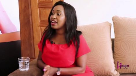 Inooro TV news anchor Winrose Wangui (pictured) during an interview on Hungura show