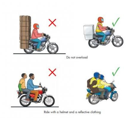 The highway code for motocyclists.