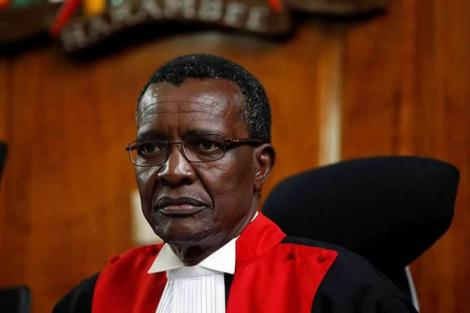 Chief Justice David Maraga during a court session in 2017.