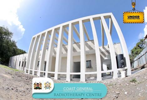 The Radiotherapy treatment unit under construction at the Coast General Hospital in Mombasa