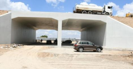 A culvert for traffic along the Nairobi highway on March 31, 2021.