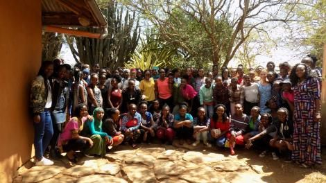 Daraja Academy, Laikipia, students pose for a photo in 2020