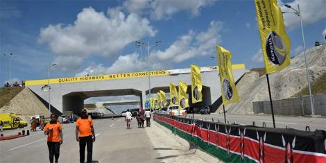Construction work ongoing at the first phase of Dongo Kundu Bypass in Mombasa.