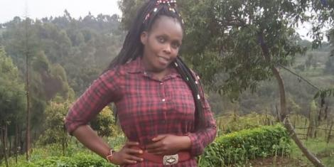 A file image of Dorcas Jepkemoi Chumba, who slid and fell at the Nandi waterfalls
