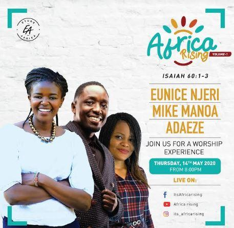 Gospel Musician Eunice Njeri will be performing at Africa Rising concert on This Thursday, May 14, 2020.