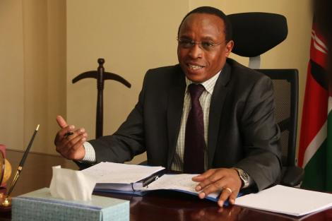 Justice Mathews Nderi Nduma during a past court session