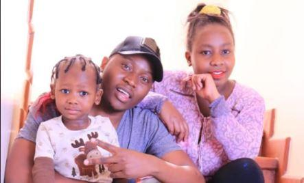 Faustine Lipuka Lukale with his late wife Milka Mumbi and their two-year-old daughter Talisha Truphena Ongoro.