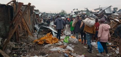 Scenes from the demolition at Gikomba market on July 14, 2020.
