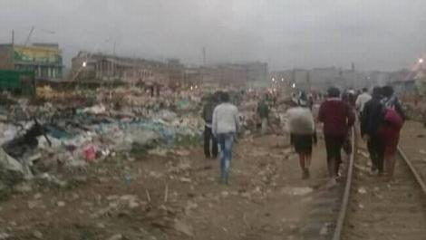 Scenes from the demolitions at Githurai market on August 26, 2020.