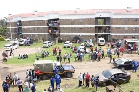 The scene of murder at the Jogoo Road Government Quarters buildings
