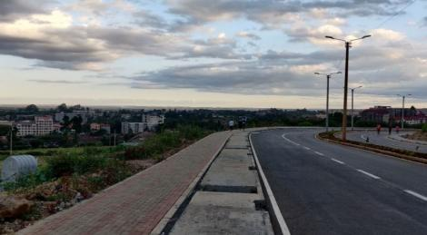 Pavements under construction along the Hospital Road- Mbagathi Way link