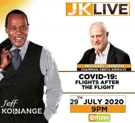 A poster shared by Citizen TV anchor Jeff Koinange before making a comeback on Citizen TV on Wednesday, July 29