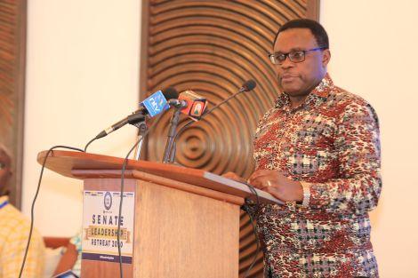 Senate Speaker Hon. Lusaka Kenneth during the 6th Senate Leadership Retreat