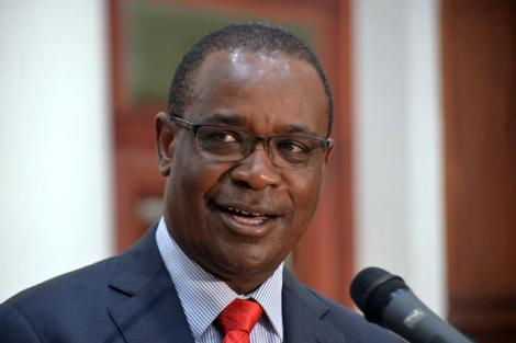 Former Nairobi Governor Evans Kidero speaking during a press conference in 2017.