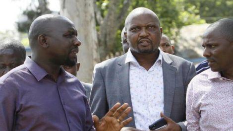 Senator Kipchumba Murkomen, Gatundu South MP Moses Kuria, Kikuyu MP Kimani Ichung'wah.