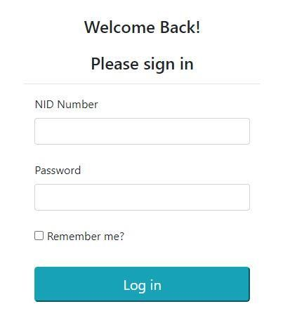 The log-in page on the PSC portal