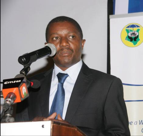Makueni MP Daniel Maanzo speaking at an event in 2019.