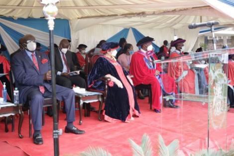 Education CS George Magoha during a graduation ceremony at UoN on September 25, 2020.